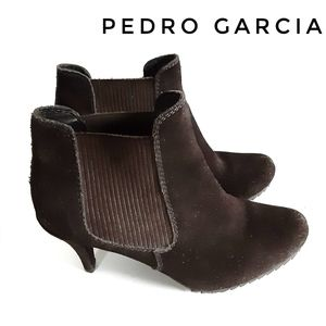 Pedro Garcia Brown Sude Leather Justine Ankle Boot